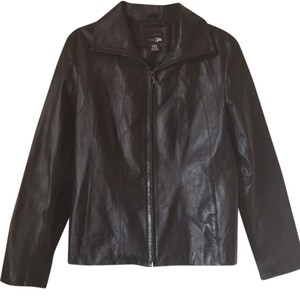 East 5th Essentials Blac Leather Jacket