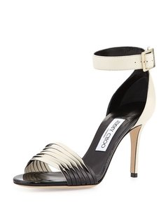 Jimmy Choo Two toned Ivory and Black Sandals