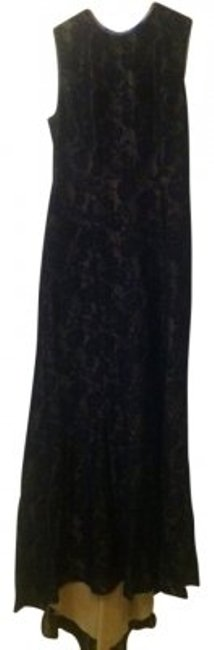 Preload https://item5.tradesy.com/images/adrianna-papell-black-lace-with-nude-liner-hourglass-keyhole-train-long-formal-dress-size-14-l-11764-0-0.jpg?width=400&height=650