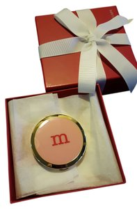 PersonalCreations.com Personalized Enamel Purse Mirror - PINK (W/ Letter M)