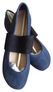 Camper Nubuck Leather Blue Flats
