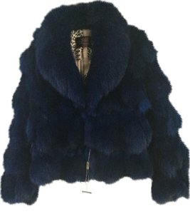 Other Genuine Fur Bright Blue with black undertones Jacket