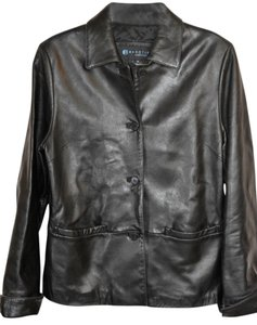 Kenneth Cole Reaction Supple Leather Lambskin Like New black Leather Jacket