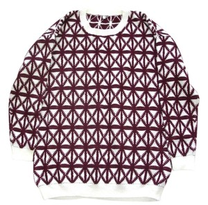 Other Check Weaters Burgundy Sweaters Wine Sweaters White Sweaters Check Print Sweater Top burgundy white