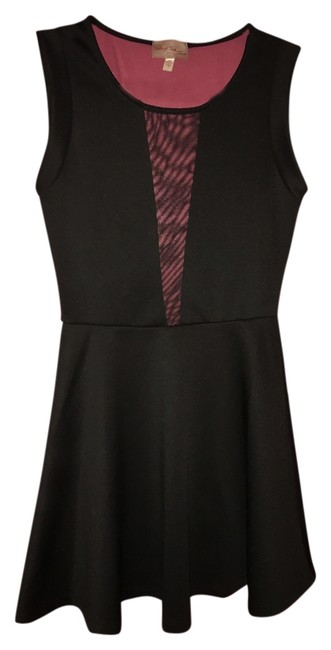 Item - Black Sheer Above Knee Night Out Dress Size 8 (M)