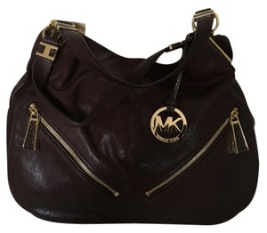 Michael Kors Leather Dark Shoulder Bag