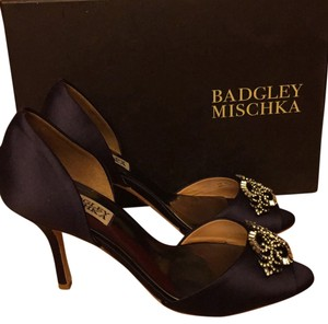 Badgley Mischka Satin Leather Sole Purple Formal