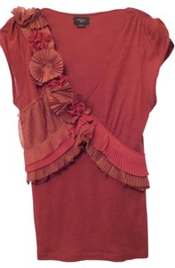 Deletta Anthropologie Knit Top Red