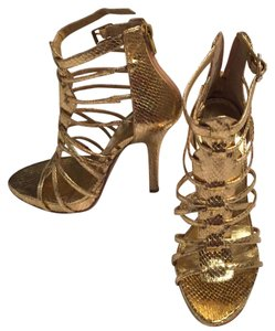 Bakers Stiletto Gold Platforms