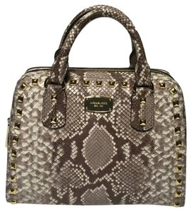 Michael Kors Small Satchel in Dark Sand Python