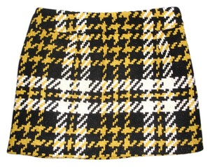 J.Crew Mini Mini Skirt black yellow