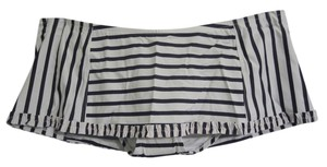 Tory Burch NWT! Tory Burch S Ivory / Navy Stripe Ruffle Swim Skirt SWIMSUIT Bottom $135