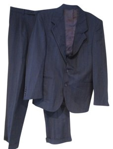Christian Aujard CHRISTIAN AUJARD gray blue pinstriped suit jacket pants sz 39 S