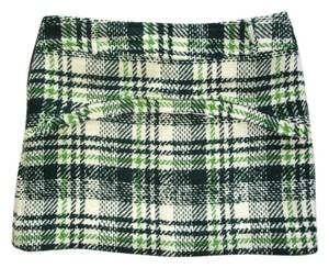 Tweed Tweed Mini Skirt green ivory