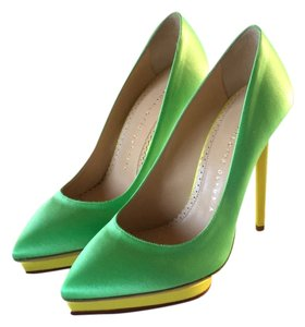 Charlotte Olympia Green/ yellow Platforms