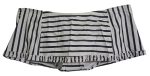 Tory Burch NWT! Tory Burch M Ivory / Navy Stripe Ruffle Swim Skirt SWIMSUIT Bottom $135