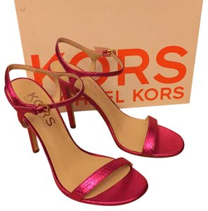 Michael Kors Snakeskin Hot Pink Metallic Sandals