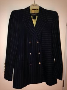 Escada Blue with white strips Blazer