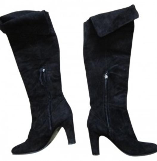 Preload https://item4.tradesy.com/images/ann-taylor-loft-black-knee-high-fold-over-suede-bootsbooties-size-us-8-regular-m-b-11768-0-0.jpg?width=440&height=440