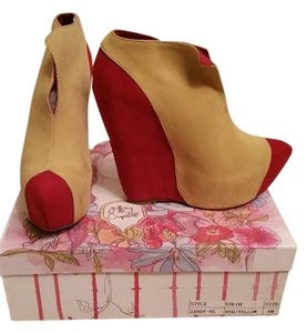 Jeffrey Campbell Wedges Pointed Toe Yellow Red Platforms
