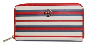 Tory Burch Tory Burch Robinson Stripe Zip Continental Wallet