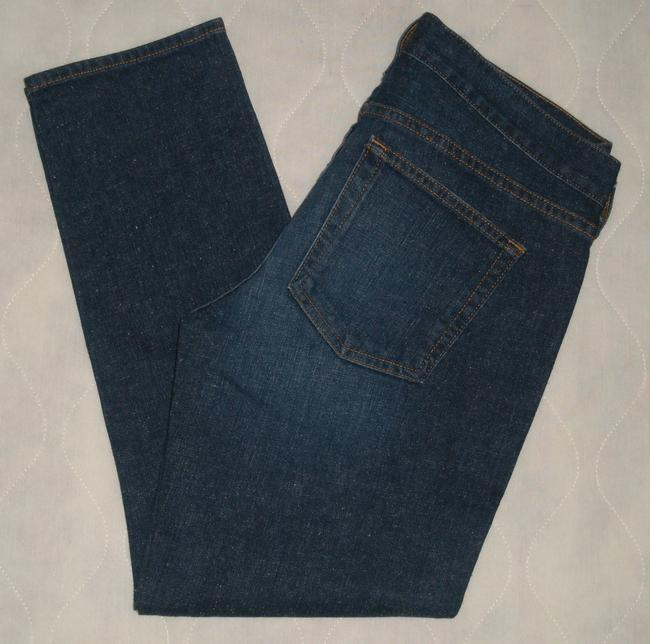 J.Crew Classic 5 Pocket Style *zip Fly *machine Washable *low Rise *can Be Worn Cuffed Or Uncuffed *cotton/Spandex *single Leg Capri/Cropped Denim-Dark Rinse Image 4