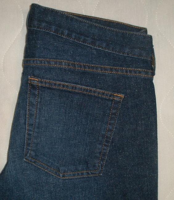 J.Crew Classic 5 Pocket Style *zip Fly *machine Washable *low Rise *can Be Worn Cuffed Or Uncuffed *cotton/Spandex *single Leg Capri/Cropped Denim-Dark Rinse Image 5