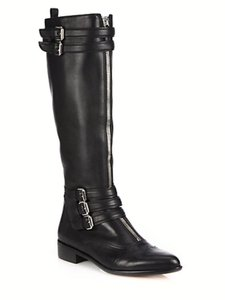 Tabitha Simmons Buckle Knee Black Boots