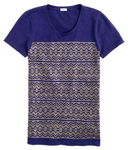 J.Crew Sequin Casual T Shirt Navy