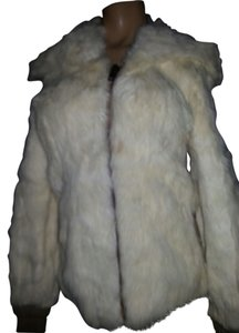 City Furs White off Leather Jacket