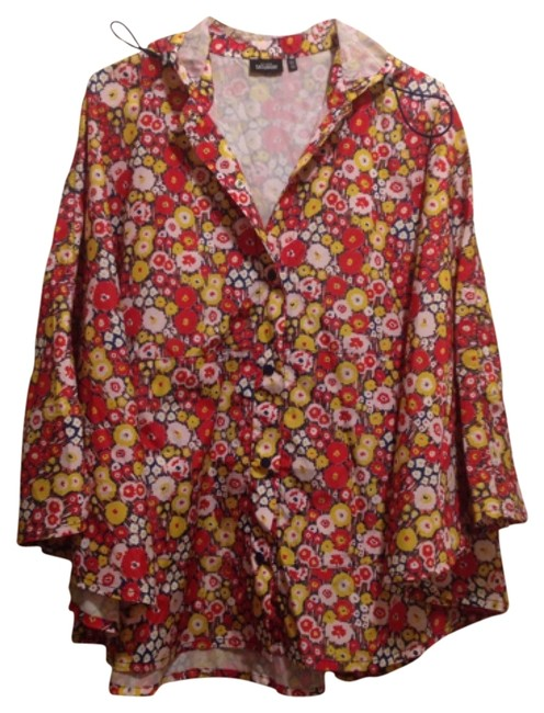 Item - Red White Yellow Poncho/Cape Size OS (one size)