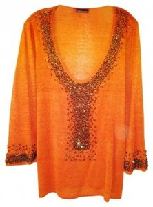Moda International Top Orange
