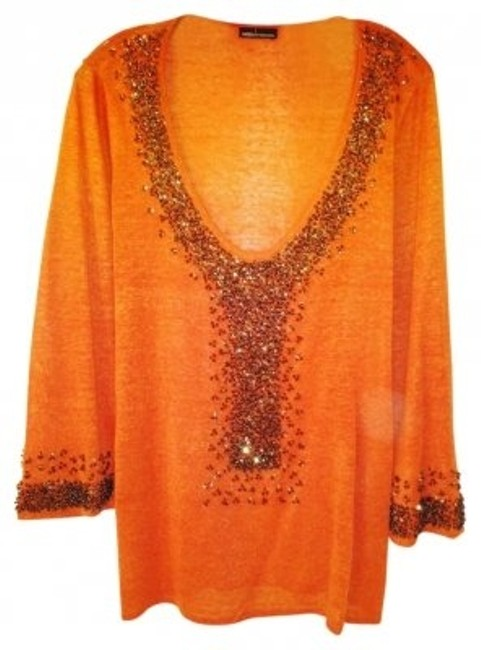 Preload https://item1.tradesy.com/images/moda-international-orange-beaded-blouse-size-16-xl-plus-0x-11770-0-0.jpg?width=400&height=650