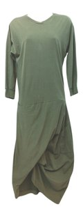 DARK GREEN Maxi Dress by Yohji Yamamoto Green Cotton Maxi