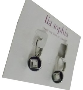Lia Sophia Lia Sophia shutter silver navy blue crystal Earrings