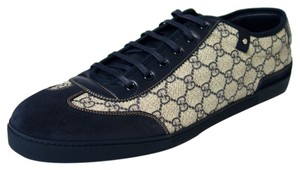 Gucci 204282 Sneaker Beige - Navy Blue Athletic