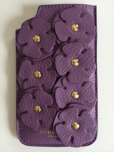 Burberry New Burberry Prorsum IPhone5/5s leather case sleeve pale grape flower petal