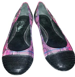 Coach Tartan Plaid Flat pink & purple Flats