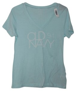 Old Navy Relaxed Cotton Blend T Shirt Blue