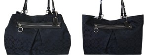 Coach Signature Jacquard Fabric Leather & Large To Extra Large Multiple Compartments Distinctive Shape From To Gabe Tote in Black/Black