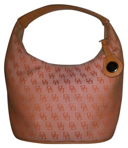 Dooney & Bourke Cute Summer & Canvas Signature Hobo Bag