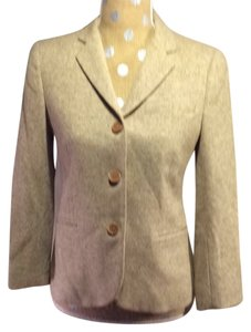 Theory Tweed Wool Brown Tan Tan tweed Blazer