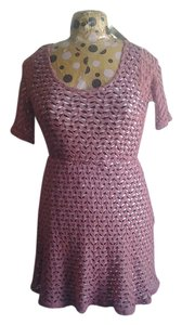 Maison Jules Knit Pink Detail Spandex Knit Dress