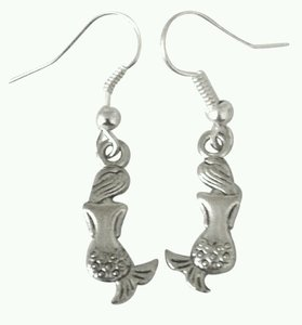 NEW Mermaid Silver Drop Earrings