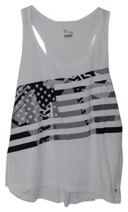 Old Navy NWT Old Navy Go-Dry Cool Graphic Cropped Tank Top White Size XXL Polyester Blend NEW