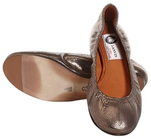 Lanvin Made In Italy Leather Flat Brown Flats