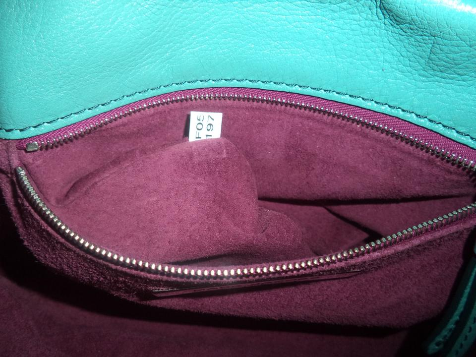 Italy Jacobs Marc Selma Patent Leather Leather Sea Green Suede Shoulder Bag Satchel Aqua HHOTqx