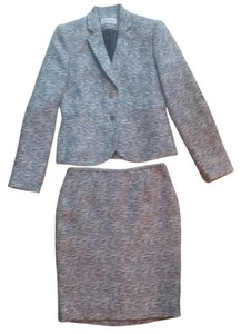 Calvin Klein CK Blue/Ivory Tweed Skirt Suit