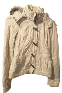 Abercrombie & Fitch Winter Coat Beige Jacket