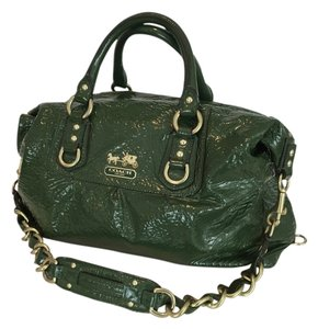 Coach Vintage Handbag Patent Leather Satchel in Green